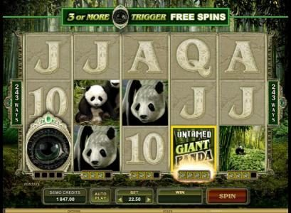 Play slots at Grand Mondial: Grand Mondial featuring the Video Slots Untamed Giant Panda with a maximum payout of $90,000