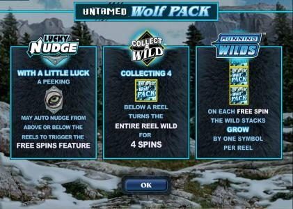 Play slots at B-Bets: B-Bets featuring the Video Slots Untamed Wolf Pack with a maximum payout of $180,000