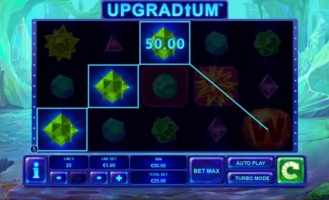 Europlay featuring the Video Slots Upgradium with a maximum payout of $250,000