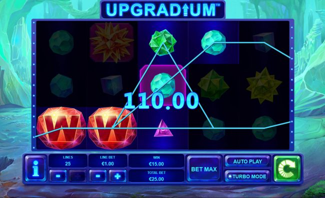 Winner Online featuring the Video Slots Upgradium with a maximum payout of $250,000