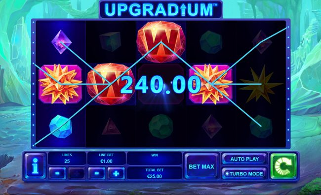 MANSION featuring the Video Slots Upgradium with a maximum payout of $250,000