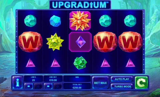 Casino Lucky Win featuring the Video Slots Upgradium with a maximum payout of $250,000