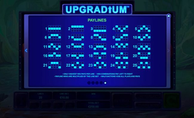Casino King featuring the Video Slots Upgradium with a maximum payout of $250,000