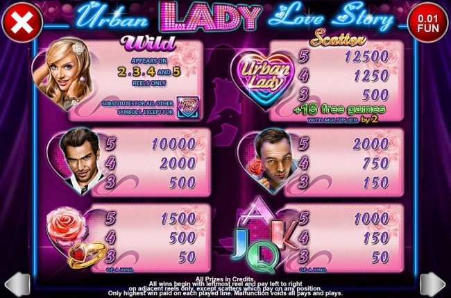 Play slots at Argo: Argo featuring the Video Slots Urban Lady Love Story with a maximum payout of $1,250