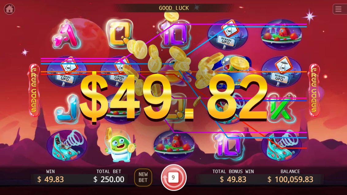 UFO :: Free Spins Game Board