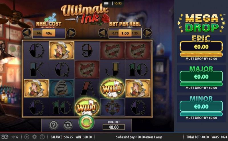Ultimate Ink :: Multiple winning paylines