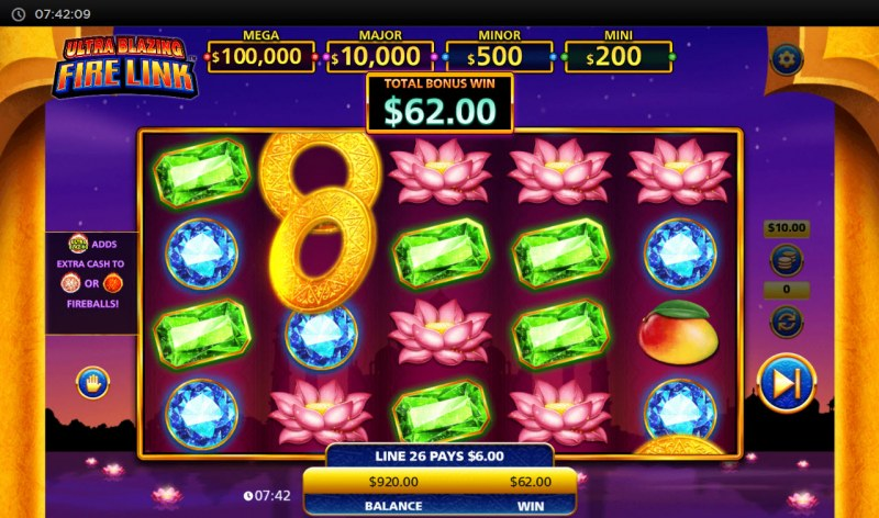 Ultra Blazing Fire Link :: Multiple winning paylines