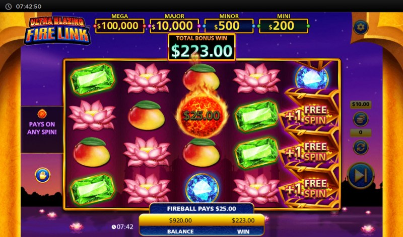Ultra Blazing Fire Link :: Extra free spins awarded