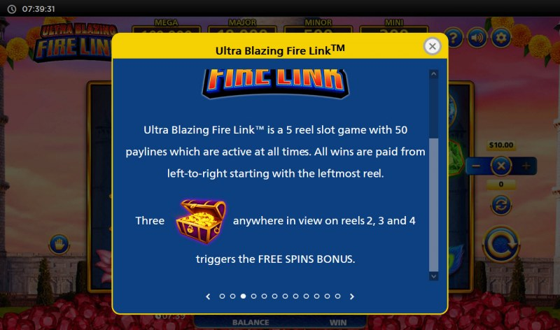 Ultra Blazing Fire Link :: Scatter Symbol Rules