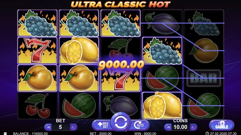 Ultra Classic Hot :: Multiple winning combinations
