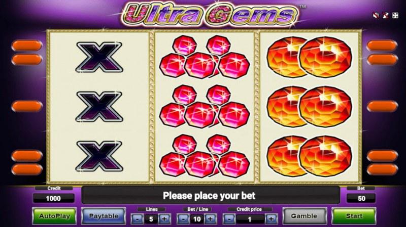 Ultra Gems :: Main Game Board