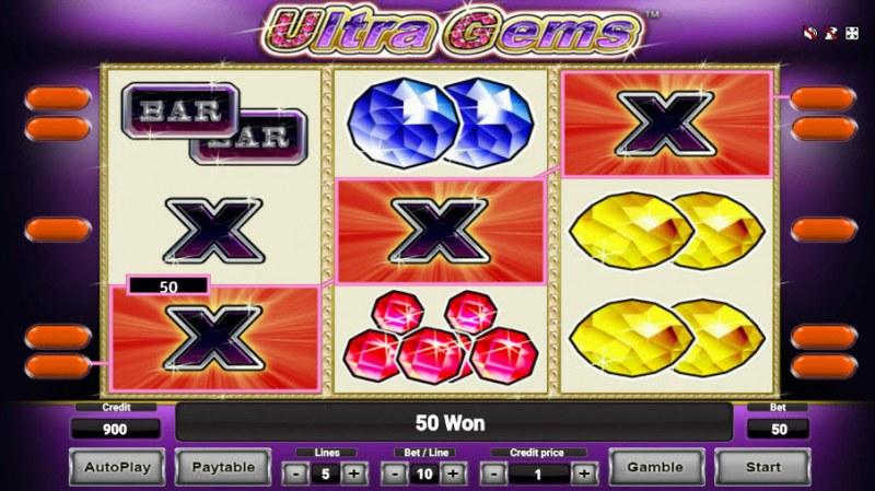 Ultra Gems :: Three of a kind win