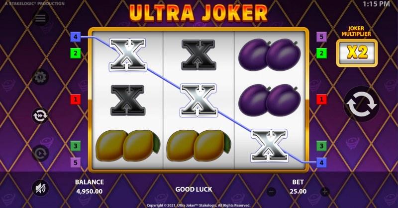 Ultra Joker :: A three of a kind win