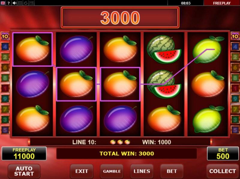 Ultra Seven :: Multiple winning paylines