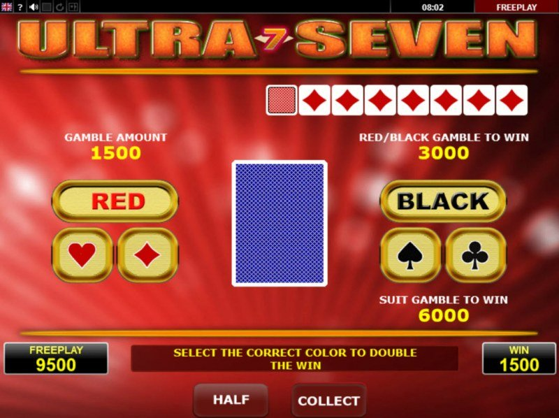 Ultra Seven :: Gamble Feature Game Board