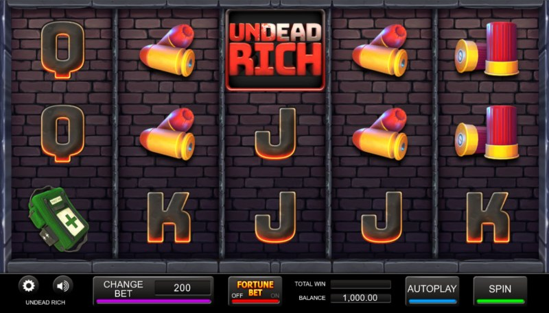 Undead Rich :: Base Game Screen