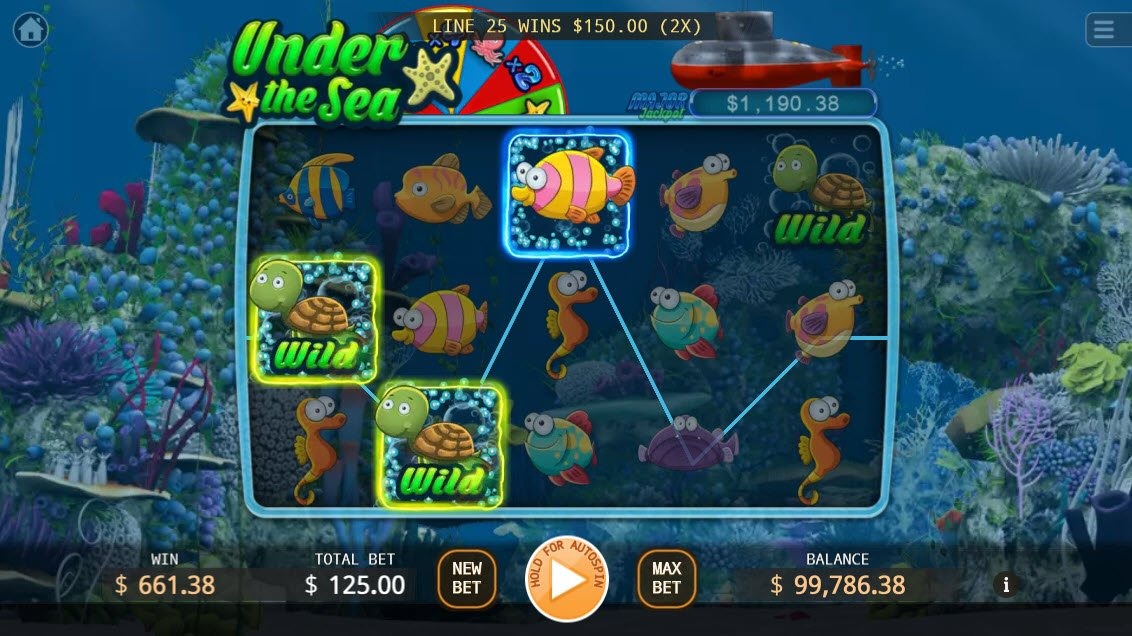 Under the Sea :: Multiple winning combinations leads to a big win