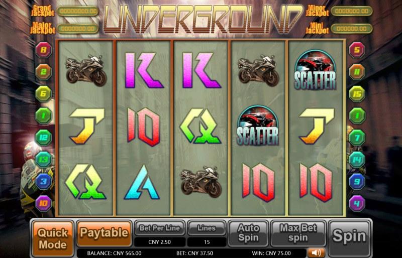Underground :: Scatter Win