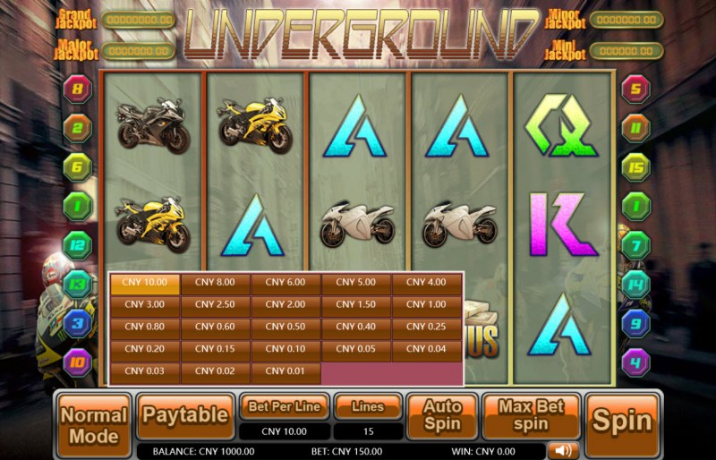 Underground :: Available Betting Options