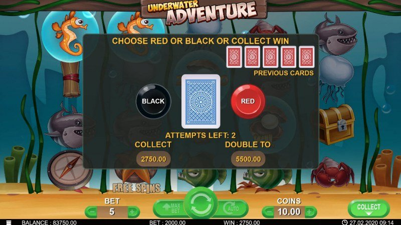 Underwater Adventure :: Gamble Feature Rules