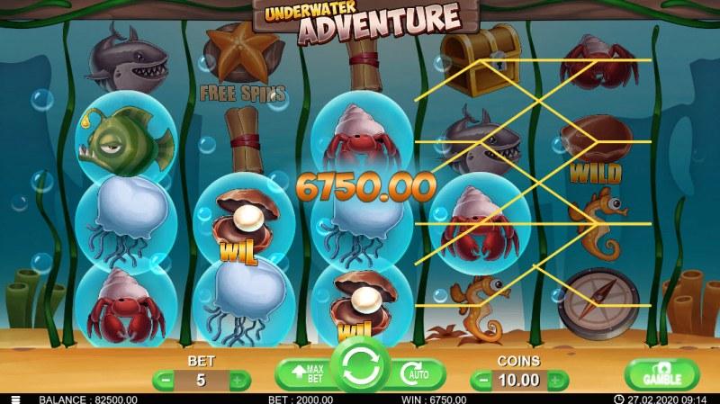 Underwater Adventure :: Multiple winning paylines