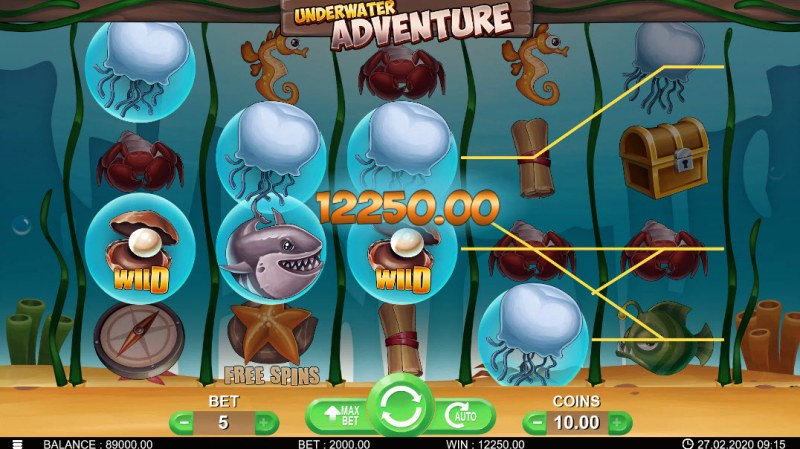 Underwater Adventure :: Multiple winning combinations leads to a big win