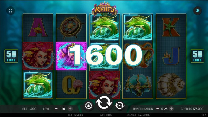 Underwater Riches :: Multiple winning paylines