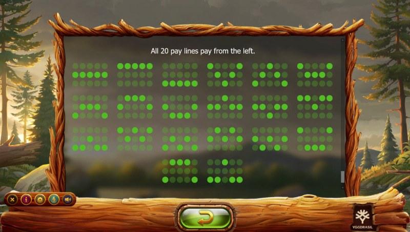 Untamed Wilds :: Paylines 1-20