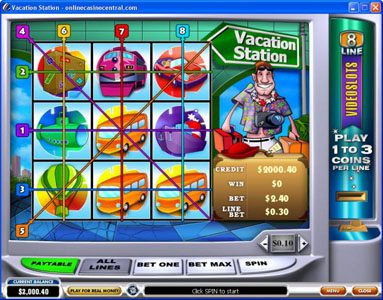 Sky Kings featuring the Video Slots Vacation Station with a maximum payout of $60,000