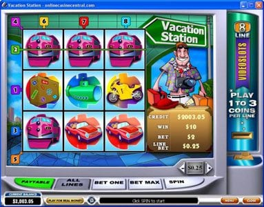 Royal Dice featuring the Video Slots Vacation Station with a maximum payout of $60,000