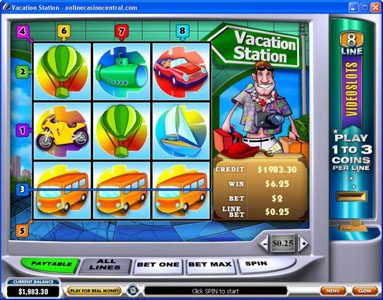 Casino Plex featuring the Video Slots Vacation Station with a maximum payout of $60,000