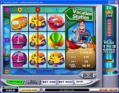 Chips Palace featuring the Video Slots Vacation Station with a maximum payout of $60,000
