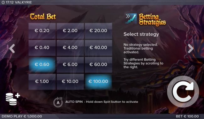Valkyrie :: Betting Options