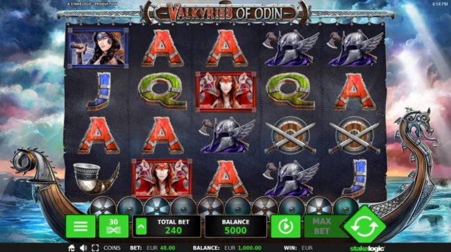 Slot Planet featuring the Video Slots Valkyries of Odin with a maximum payout of $18,192