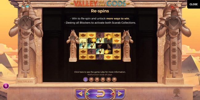 Boaboa featuring the Video Slots Valley of the Gods with a maximum payout of $580,000