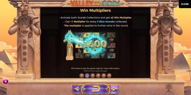 Valley of the Gods :: Win Multipliers Rules