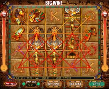 Aztec Ritces featuring the Video Slots Valley of the Kings with a maximum payout of $7,500