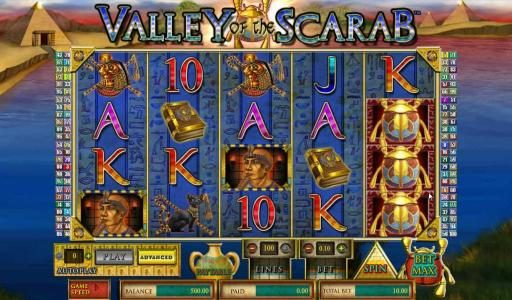 TS featuring the Video Slots Valley of the Scarab with a maximum payout of $750,000