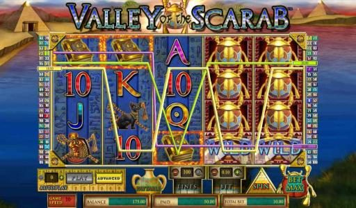 Slots Cafe featuring the Video Slots Valley of the Scarab with a maximum payout of $750,000