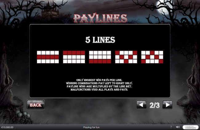 Omni featuring the Video Slots Vampire Princess of Darkness with a maximum payout of $3,750,000