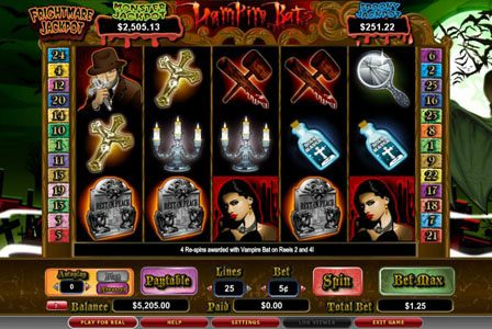 Fruity Vegas featuring the video-Slots Vampire Bats with a maximum payout of 3,000x