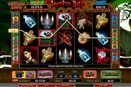 Play slots at Luckland: Luckland featuring the video-Slots Vampire Bats with a maximum payout of 3,000x