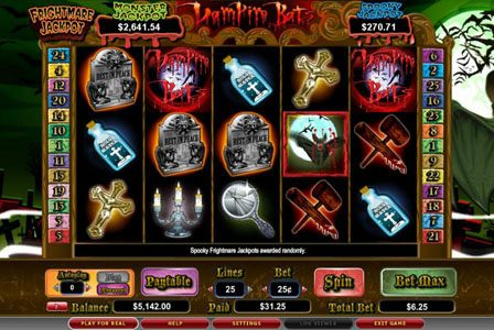 Wild Slots featuring the video-Slots Vampire Bats with a maximum payout of 3,000x