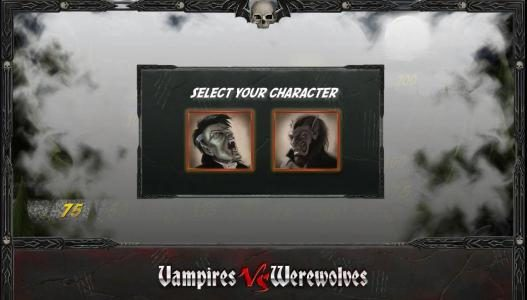 Vegas Winner featuring the Video Slots Vampires vs Werewolves with a maximum payout of 37500x