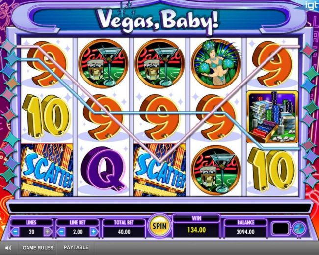 Thrills featuring the Video Slots Vegas, Baby! with a maximum payout of $250,000