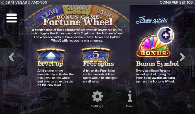 Dream Vegas featuring the Video Slots Vegas Diamonds with a maximum payout of $200,000