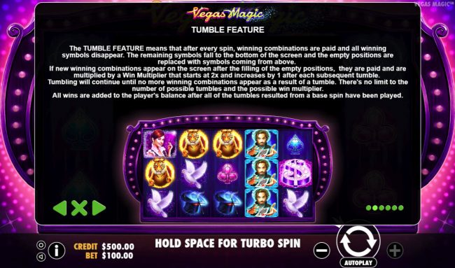 Yoyo featuring the Video Slots Vegas Magic with a maximum payout of $50,000