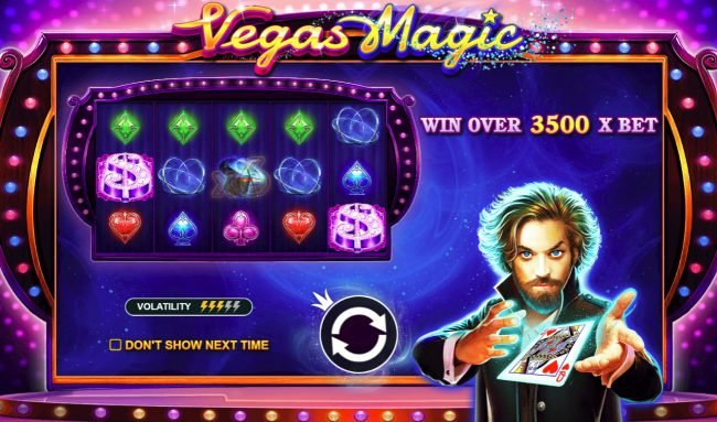 Play slots at Crystal Casino Club: Crystal Casino Club featuring the Video Slots Vegas Magic with a maximum payout of $50,000