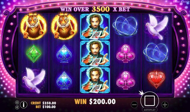 Play slots at Intercasino: Intercasino featuring the Video Slots Vegas Magic with a maximum payout of $50,000