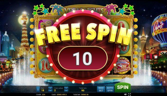 Vegas Nights :: 10 Free Games Awarded